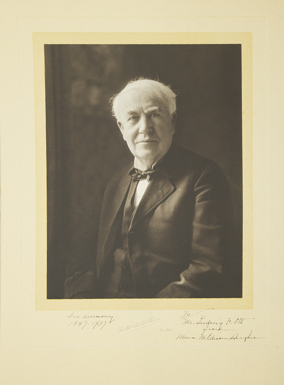Photogravure Portrait of Thomas Edison. Thomas Alva Edison.