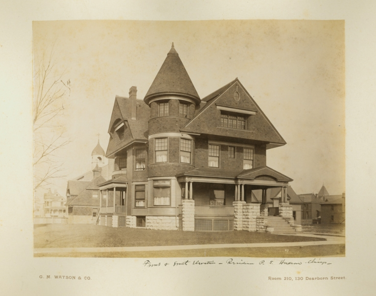 Ten photographs of the Chicago residence of P.S. Hudson. G. M. Watson, photographers Co.