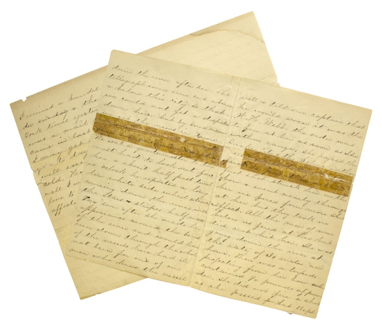 """Autograph Letter, Signed as """"Jes"""" of the USS Port Royal to sister. Navy Civil War, Jes."""