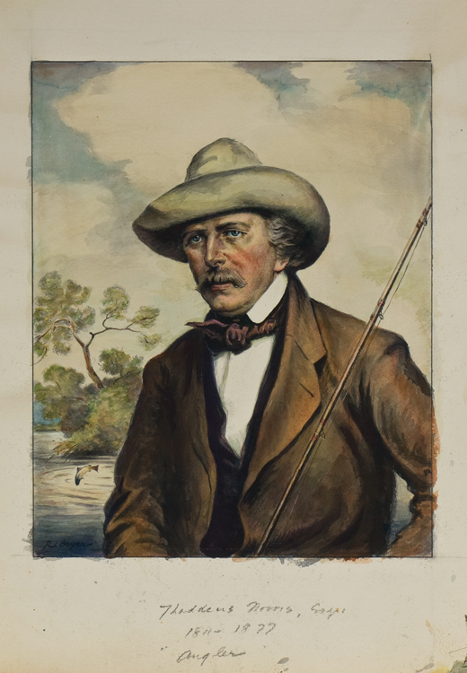 """""""FATHERS OF AMERICAN SPORT"""". The ORIGINAL SIX WATERCOLORS of this famous Derrydale Press set, signed by the artist """"R.L. Boyer"""". Together with a set of PROOFS BEFORE LETTERS, with what is evidently the artist's modelling and coloring, each signed by him in pencil (one, unsigned, is in print state, with legend engraved in lower margin). Ralph L. Boyer."""