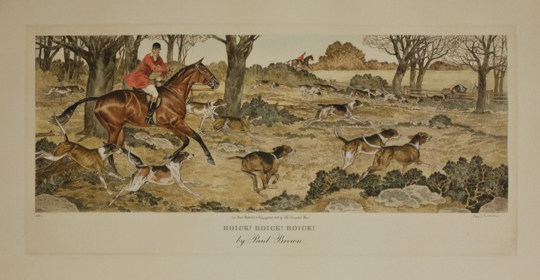 """""""Hoick! Hoick! Hoick!"""" [and:] """"Kennel Bound"""". Paul Brown."""