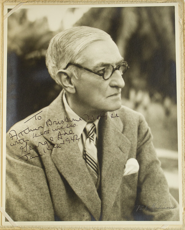 3 Inscribed and Signed Photos. George Ade.