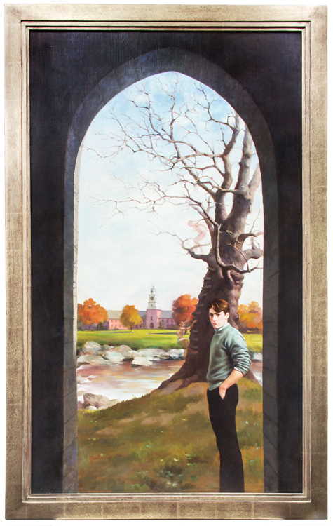 Original cover art for the 1982 Bantam Books edition of A SEPARATE PEACE, by John Knowles. John Knowles, Max Ginsburg.