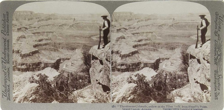 The Grand Canon Through the Stereoscope. Grand Canyon, F. S. Deffenbaugh, explanatory notes.