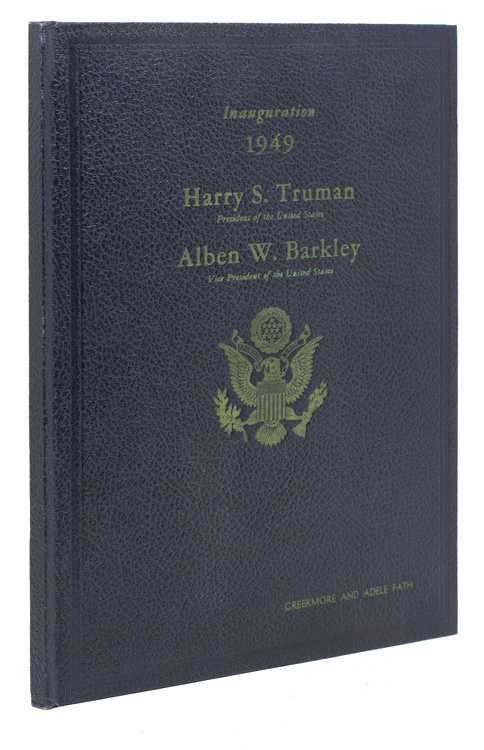 Official Program Commemorating the Inauguration of Harry Truman...and Alben W. Barkley, January 20, 1949. Harry Truman.