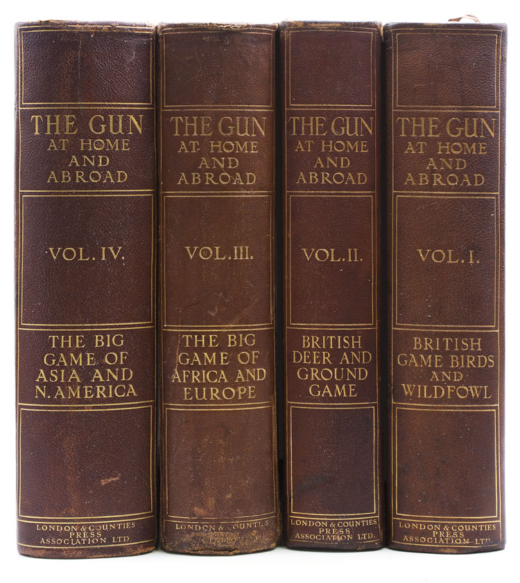 The Gun at Home and Abroad. British Game Birds and Wildfowl (Vol. I). British Deer and Ground Game, Dogs, Guns, and Rifles (Vol. II). The Big Game of Africa and Europe (Vol. III). The Big Game of Asia and North America (Vol. IV). Big Game, W. R. Ogilvie-Grant, J. G. MILLAIS, Arthur Acland HOOD.