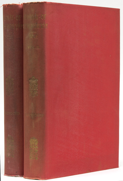 Rubáiyat of Omar Khayyam. English, French and German translations comparatively arranged in accordance with the text of Edward Fitzgerald's Version. With further selections, notes, biographies, bibliographies, and other material collected and edited by Nathan Haskell Dole. Omar Khayyam.