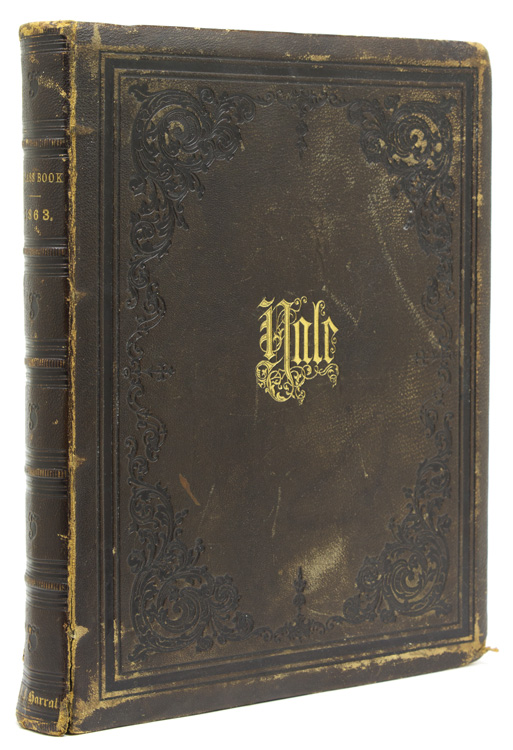Yale Class Book 1863 [cover and spine title]. YALE.