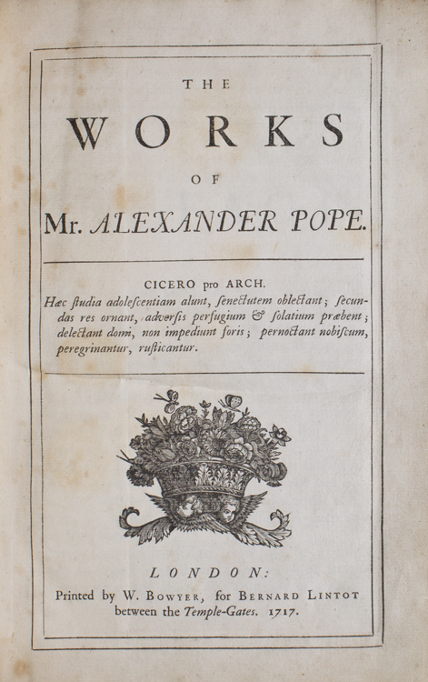 The Works …. Alexander Pope.