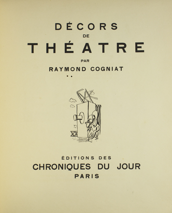 Decors de Theatre. Raymond Cogniat.