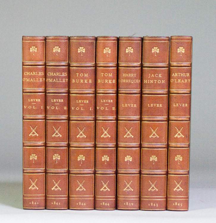 Selected works, including: The Confessions of Harry Lorrequer, Charles O'Malley The Irish Dragoon; Our Mess (consisting of Jack Hinton [and] Tom Burke), [and] Arthur O'Leary. Charles Lever.
