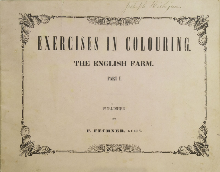 Excercises in Colouring. The English Farm. Part I