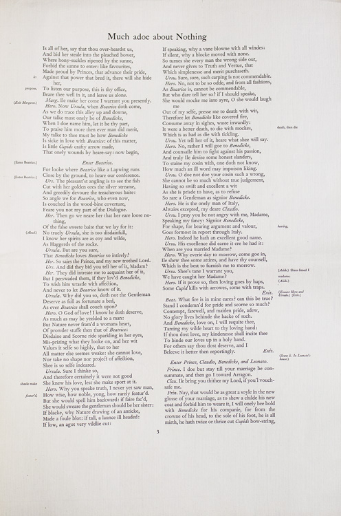 Proof Sheet for a Nonesuch Press edition in Folio of William Shakespeare. William Shakespeare.