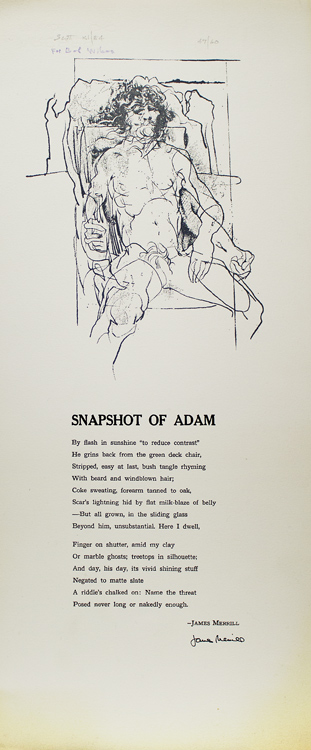 Snapshot of Adam [drop-title]. James Merrill.
