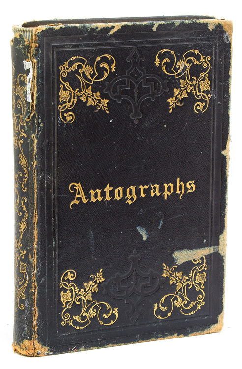 Autograph Book of Hon. George Gray from his Princeton Years, with the sentiments and signatures of fellow students from the classes of 1858, 59, and 60. George Gray.