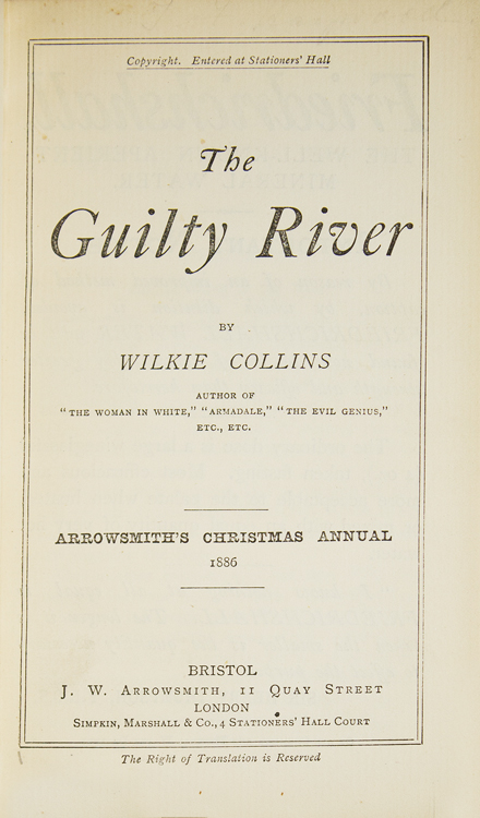 The Guilty River. Wilkie Collins.