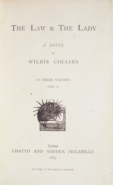 The Law & The Lady. A Novel. Wilkie Collins.