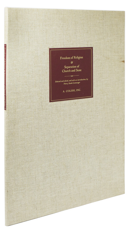 Freedom of Religion & Separation of Church and State. Selected and edited, and with an Introduction by …. Henry Steele Commager.