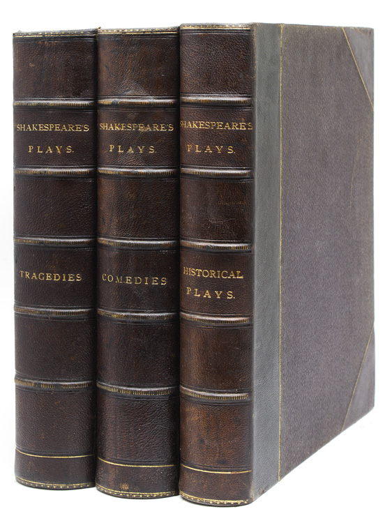 The Plays … Edited by Charles and Mary Cowden Clarke. Illustrated by H.C. Selous. The Comedies [and:] The Historical Plays [and:] The Tragedies. William Shakespeare.