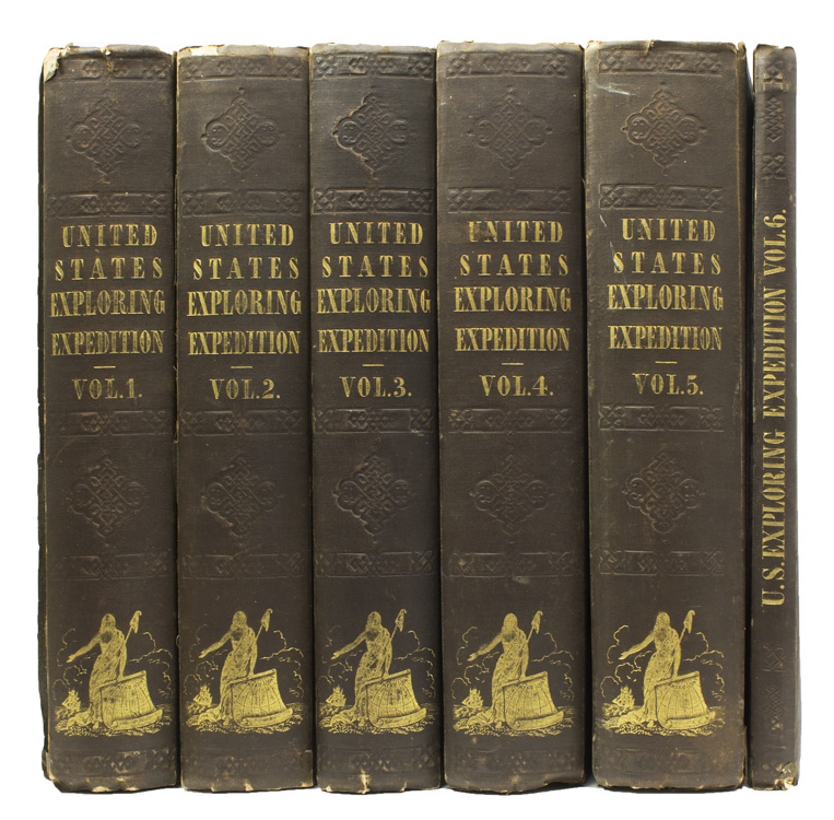 Narrative of the United States Exploring Expedition during the Years 1838, 1839, 1840, 1841, 1842. With Atlas. Charles Wilkes.