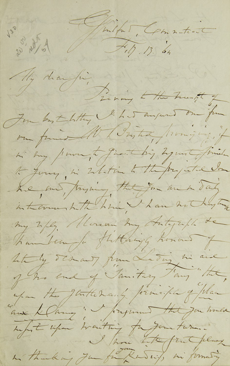 Autograph Letter, Signed. To H.(enry) T.(heodore) Tuckerman. Fitz-Greene Halleck.