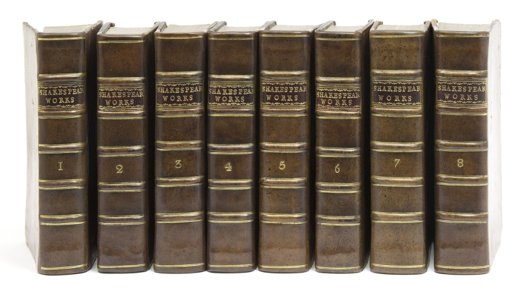 The Works of Shakespear. In Eight Volumes. Collated and Corrected by the Former Editions, by Mr. Pope. William Shakespeare.