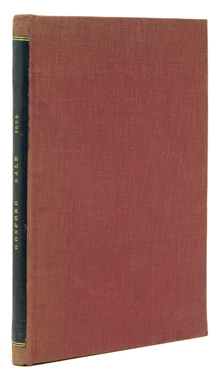 Catalogue of the Fine, Extensive and Valuable Library of the Rt. Hon. The Earl of Gosford, K. P. … 21 April 1884 and ten days following. Gosford Library.
