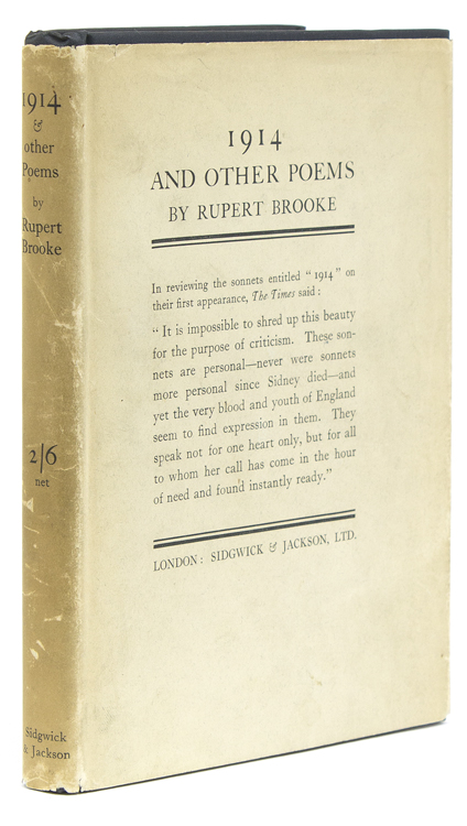 1914 and Other Poems. Rupert Brooke.