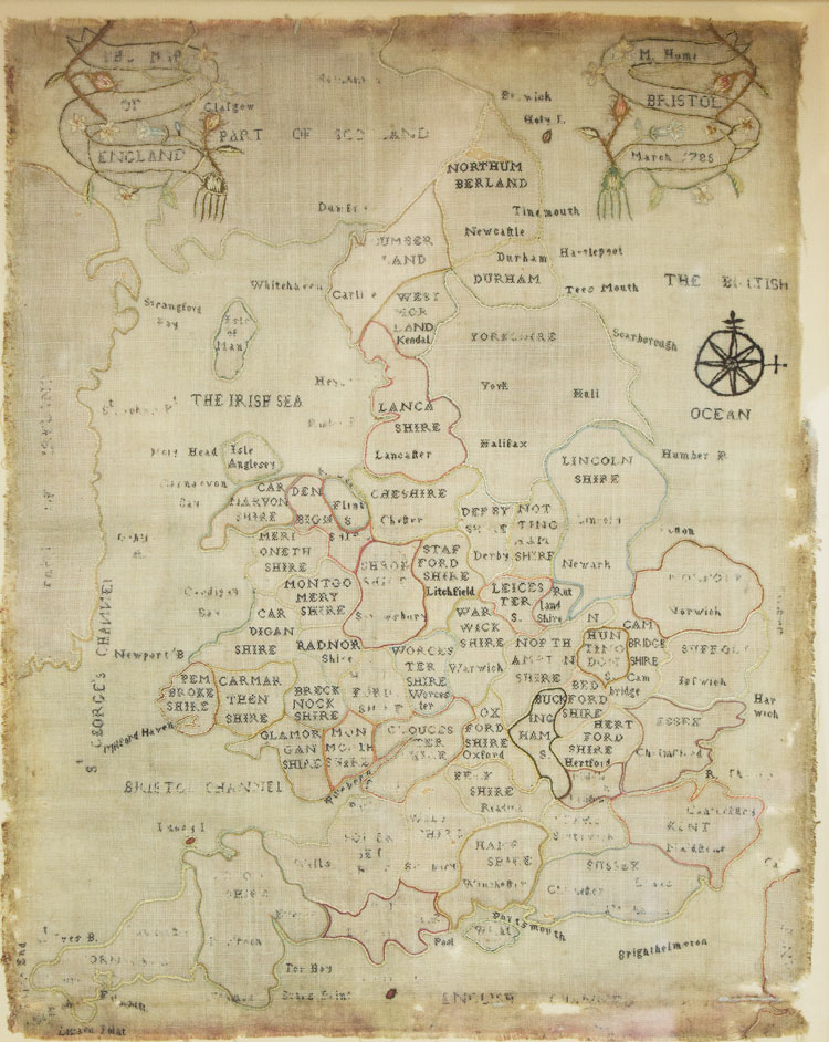 Needlework Map of England. Girls' Education.