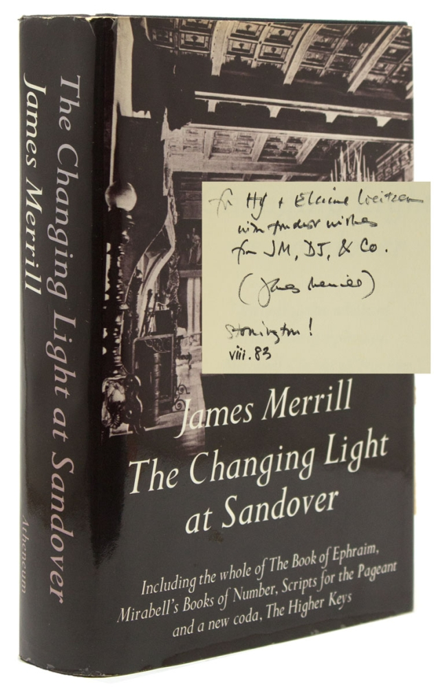The Changing Light at Sandover. Including the whole of The Book of Ephraim, Mirabell's Books of Number, Scripts for the Pageant snd a new coda, The Higher Keys. James Merrill.