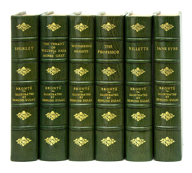 [Works] The Novels of Charlotte, Emily, & Anne Brontë. Jane Eyre; Villette; Wuthering Heights; The Professor; Shirley; The Tenant of Wildfell Hall and Agnes Grey. Charlotte Brontë, Emily Brontë, Anne Brontë.