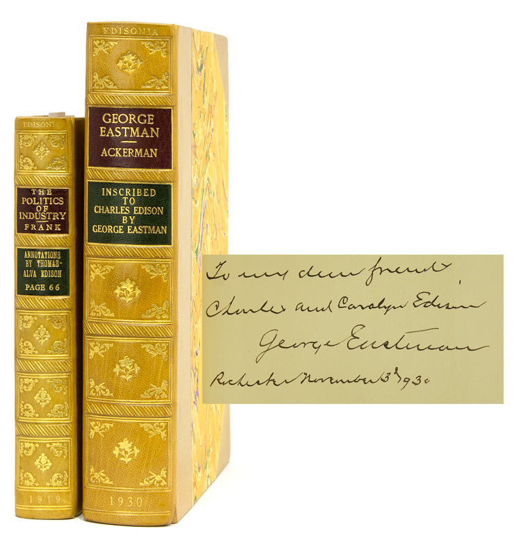 Collection of 49 volumes all belonging to various members of the Edison family. Thomas A. Edison.