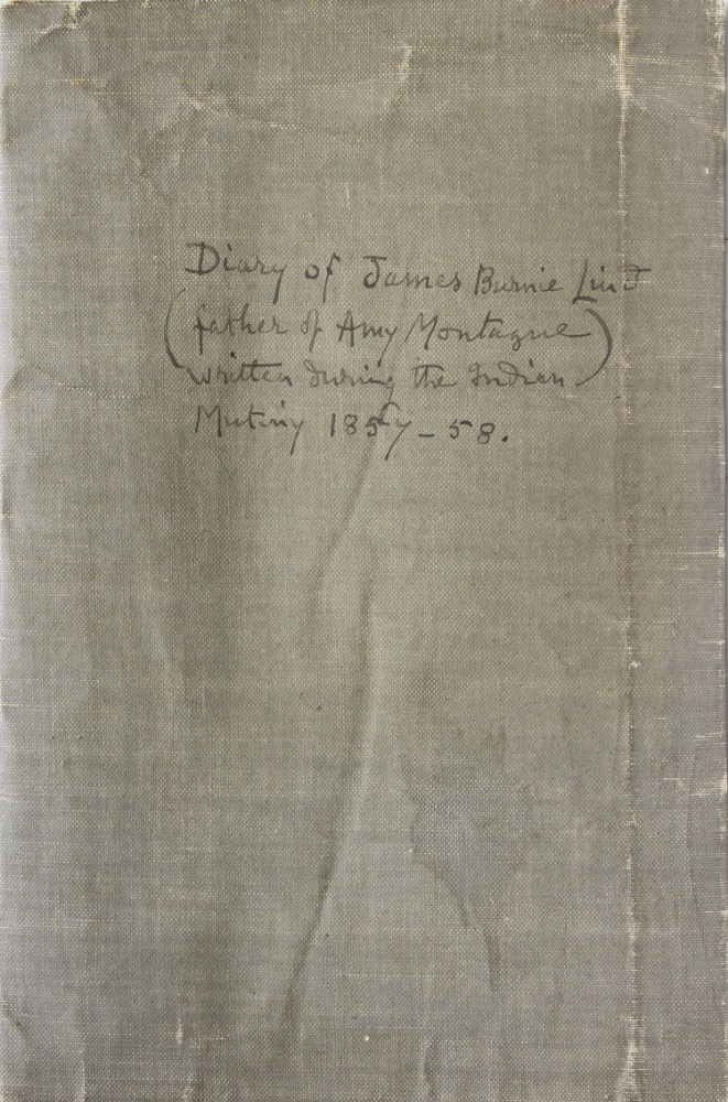 Original manuscript diary documenting the service of a British officer during the latter stages of the Sepoy Mutiny. Sepoy Mutiny.