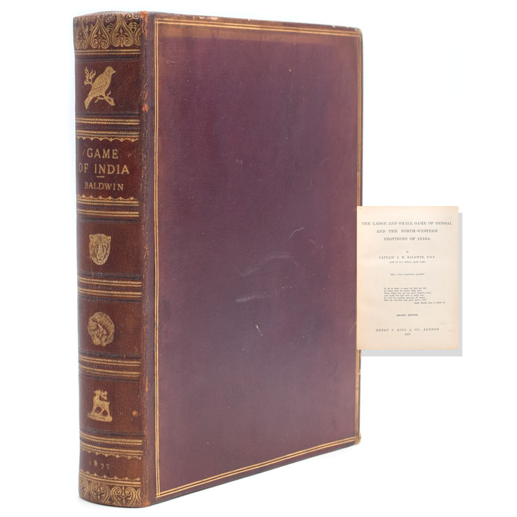 The Large and Small Game of Bengal and the North-Western Provinces of India. J. H. baldwin.