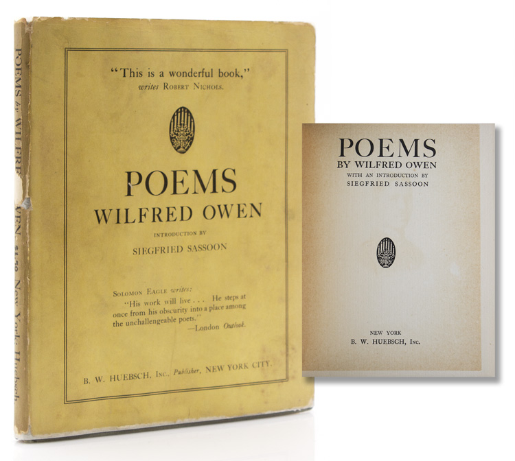 Poems. With an Introduction by Siegfried Sassoon. Wilfred Owen.