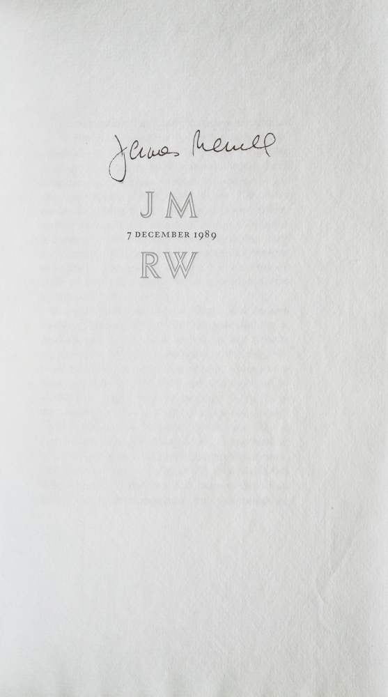 JM 7 December 1989 RW. James Merrill, Richard Wilbur.