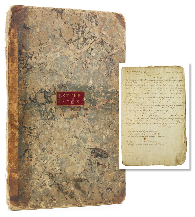 Manuscript retained letterbook of the Boston merchant firm William Foster & Company, comprising their correspondence with Dutch firm Geyer, De la Lande & Fynje. Foster, William Company.
