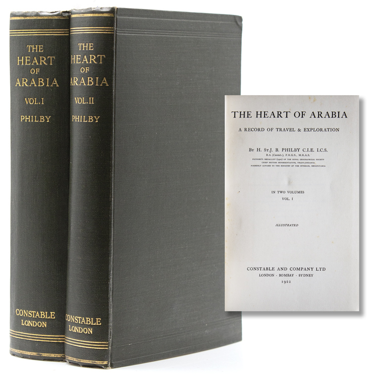 The Heart of Arabia. A Record of Travel and Exploration. H. St. John Bridger Philby.