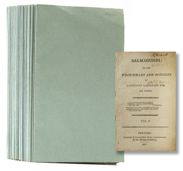 Salmagundi: or The Whim-Whams and Opinions of Launcelot Langstaff, Esq. and Others. Washington Irving.