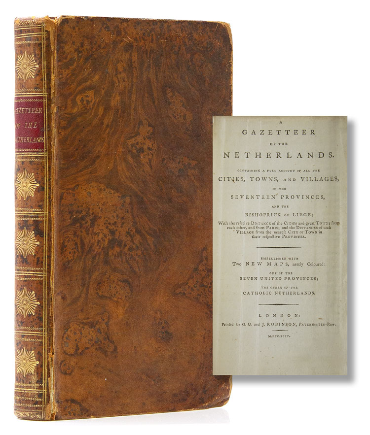 A Gazetteer of the Netherlands. Containing a Full Account of all the Cities, Towns, and Villages …. Netherlands, Clement? Cruttwell, attrib.