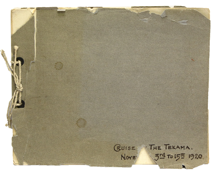 Cruise of the Tekama. Nove[mber] 3rd to 15th 1920 [cover title]