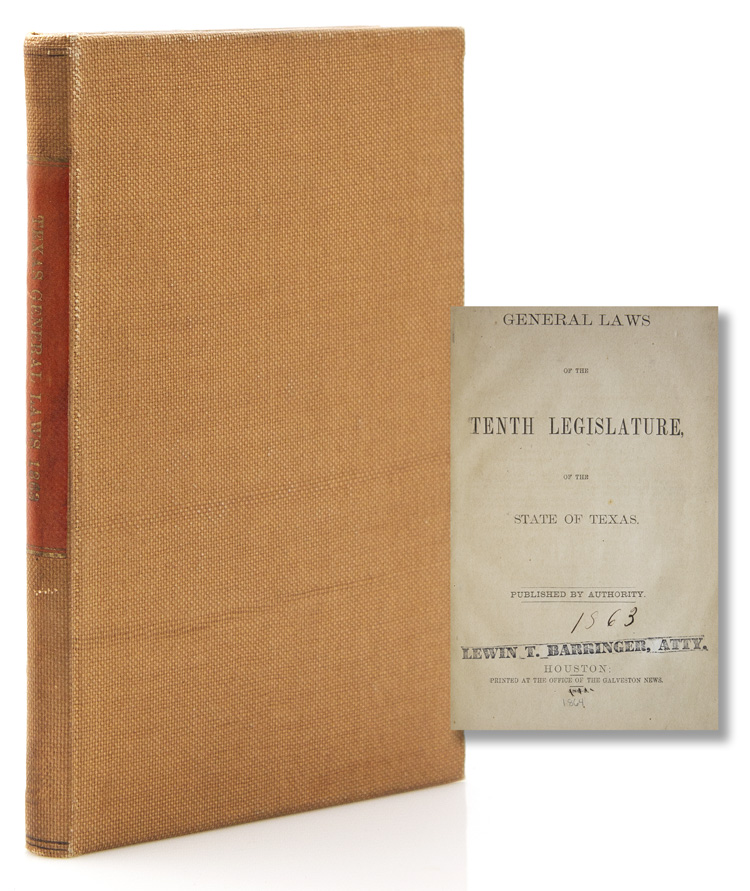General Laws of the Tenth Legislature of the State of Texas. Texas.