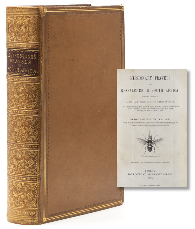 Missionary Travels and Researches in South Africa; Including a Sketch of Sixteen Years' Residence in the Interior of Africa and a journey from the Cape of Good Hope to Loanda on the west coast; thence across the continent, down the River Zambesi, to the Eastern Ocean. David Livingstone.