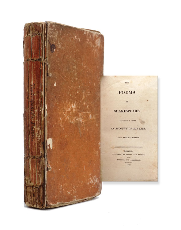 The Poems of Shakespeare. To which is Added An Account of his Life. William Shakespeare.