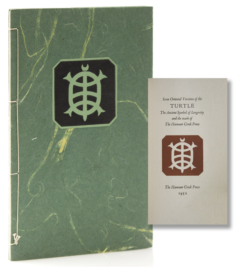 Some Oriental Versions of the Turtle, The Ancient Symbol of Longevity and the mark of the Hammer Creek Press. Hammer Creek Press.