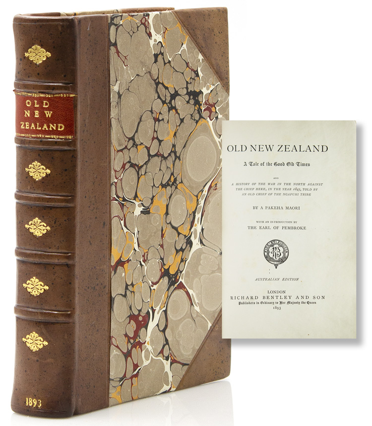 Old New Zealand: Tale of the Good Old Times by a Pekeha Maori. New Zealand, F. E. Maning.