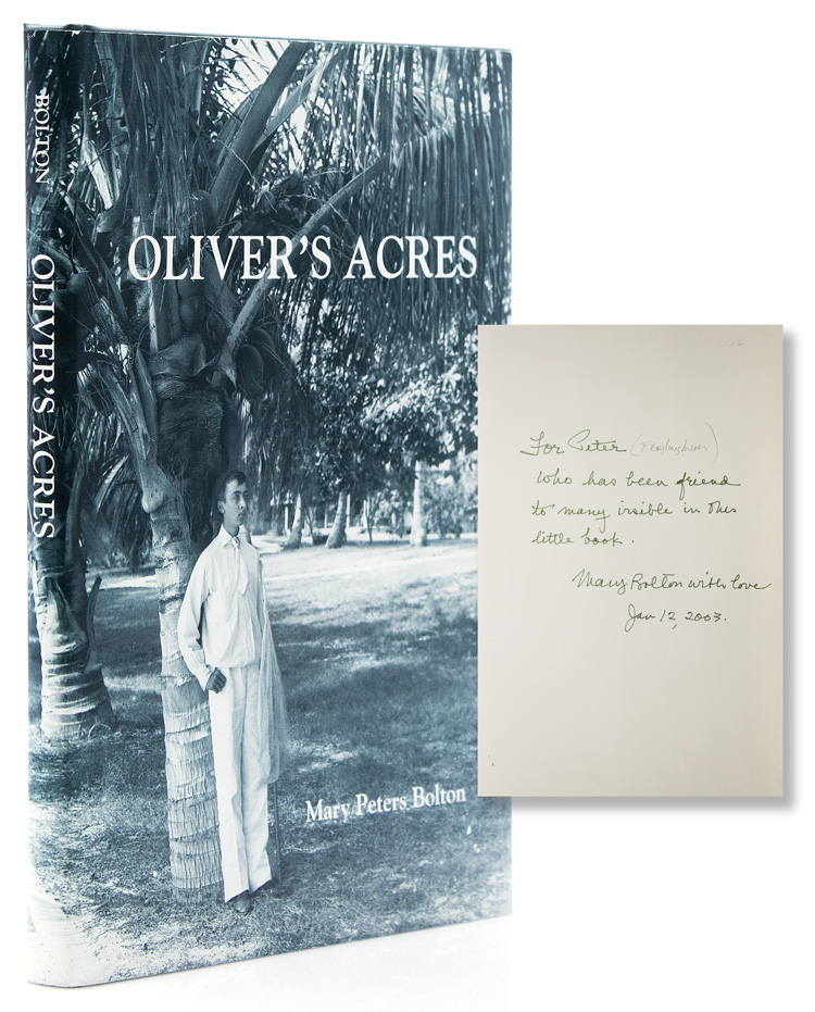 "Oliver's Acres. ""The Three VB's"" The Bingham, Blossom and Bolton Families in Palm Beach, Florida. Beach Palm, Fla, Mary Peters Bolton."