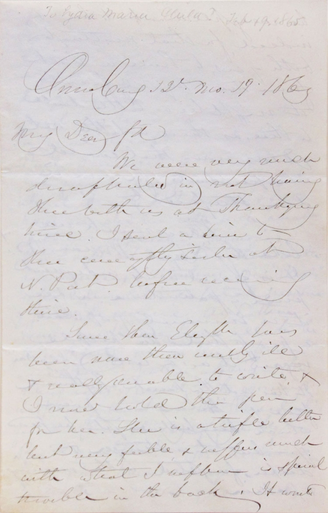 Autograph letter signed to Lucy Larcom. John Greenleaf Whittier.