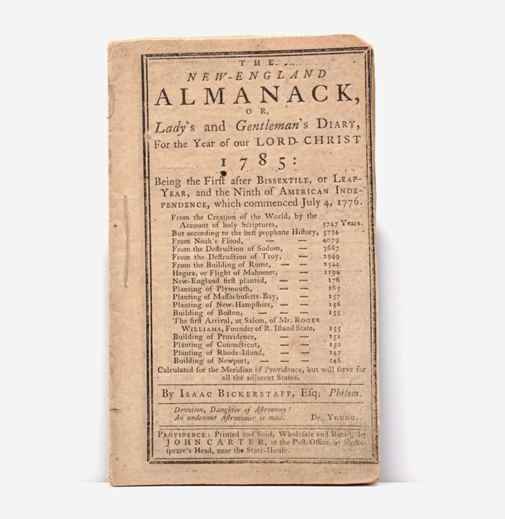 The New-England Almanack, Or Lady's and Gentleman's Diary, For the Year of our Lord Christ 1785... By Isaac Bickerstaff. Nathan Daboll.