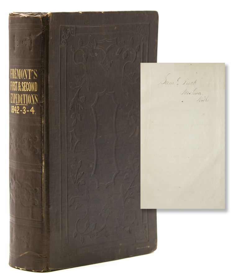 Report of the Exploring Expedition to the Rocky Mountains in the Year 1842, and to Oregon and North California in the Years 1843-'44. John Charles Fremont.